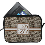 Leopard Print Tablet Case / Sleeve (Personalized)