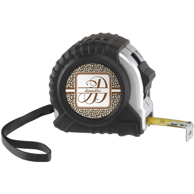 Leopard Print Tape Measure (25 ft) (Personalized)