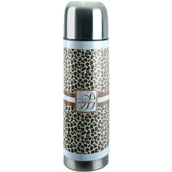 Leopard Print Stainless Steel Thermos (Personalized)