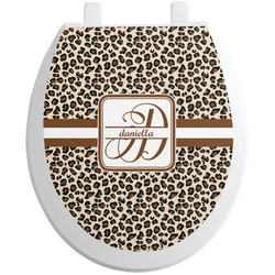 Leopard Print Toilet Seat Decal (Personalized)