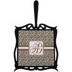 Leopard Print Trivet with Handle (Personalized)