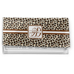 Leopard Print Vinyl Checkbook Cover (Personalized)