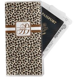 Leopard Print Travel Document Holder