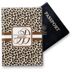 Leopard Print Vinyl Passport Holder (Personalized)