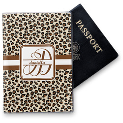 Leopard Print Vinyl Passport Holder (Personalized)