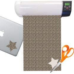 Leopard Print Sticker Vinyl Sheet (Permanent)
