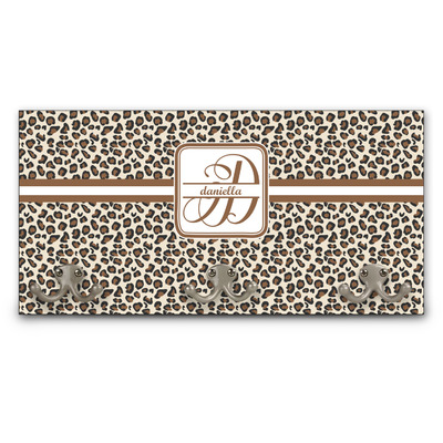 Leopard Print Wall Mounted Coat Rack (Personalized)