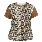 Leopard Print Women's Crew T-Shirt (Personalized)