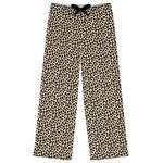 Leopard Print Womens Pajama Pants (Personalized)