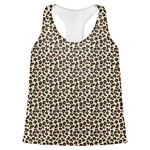 Leopard Print Womens Racerback Tank Top (Personalized)