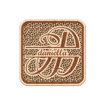 Leopard Print Genuine Maple or Cherry Wood Sticker (Personalized)