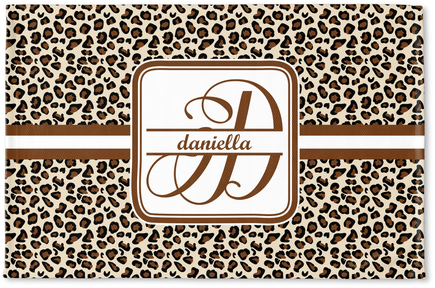 Leopard print woven mat personalized youcustomizeit for Floor print