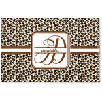 Leopard Print Woven Mat (Personalized)