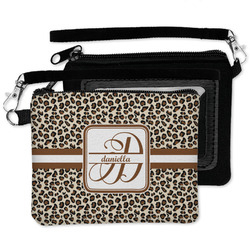 Leopard Print Wristlet ID Case w/ Name and Initial