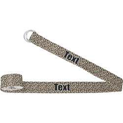 Leopard Print Yoga Strap (Personalized)