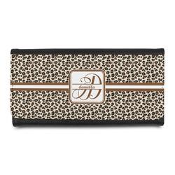 Leopard Print Leatherette Ladies Wallet (Personalized)
