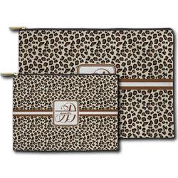 Leopard Print Zipper Pouch (Personalized)