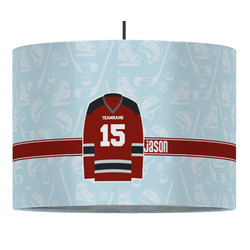 Hockey Drum Pendant Lamp (Personalized)