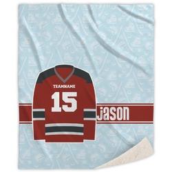 Hockey Sherpa Throw Blanket (Personalized)