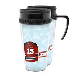 Hockey Acrylic Travel Mugs (Personalized)