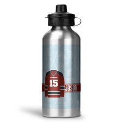 Hockey Water Bottle - Aluminum - 20 oz (Personalized)
