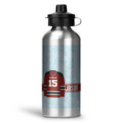Hockey Water Bottle - Aluminum - 20 oz (Personalized)