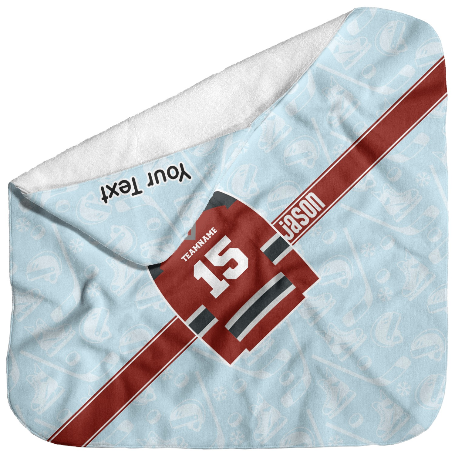 Personalized Hockey Towels: Hockey Baby Hooded Towel (Personalized)