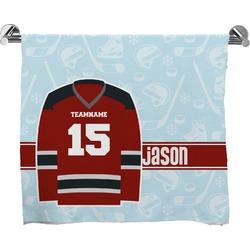 Hockey Full Print Bath Towel (Personalized)
