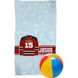 Hockey Beach Towel (Personalized)