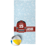 Hockey Beach Towel (Personalized)