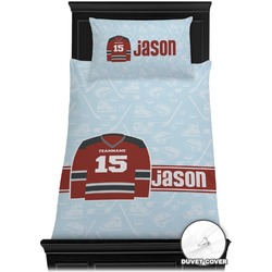 Hockey Duvet Cover Set - Twin (Personalized)