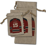 Hockey Burlap Gift Bags (Personalized)