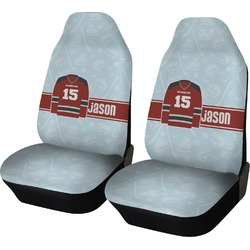 Hockey Car Seat Covers (Set of Two) (Personalized)