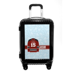 Hockey Carry On Hard Shell Suitcase (Personalized)