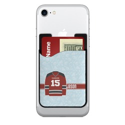 Hockey 2-in-1 Cell Phone Credit Card Holder & Screen Cleaner (Personalized)