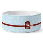 Hockey Ceramic Dog Bowl (Personalized)