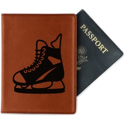 Hockey Leatherette Passport Holder (Personalized)