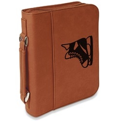 Hockey Leatherette Book / Bible Cover with Handle & Zipper (Personalized)