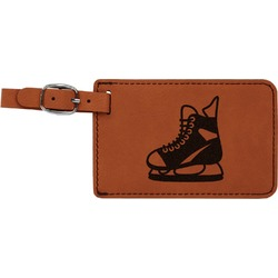Hockey Leatherette Luggage Tag (Personalized)