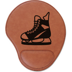 Hockey Leatherette Mouse Pad with Wrist Support (Personalized)