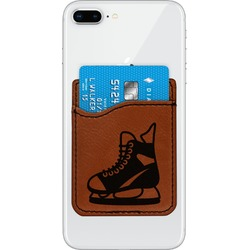 Hockey Leatherette Phone Wallet (Personalized)