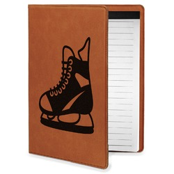 Hockey Leatherette Portfolio with Notepad - Small - Single Sided (Personalized)