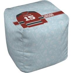Hockey Cube Pouf Ottoman (Personalized)