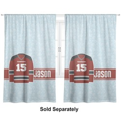 "Hockey Curtains - 56""x80"" Panels - Lined (2 Panels Per Set) (Personalized)"