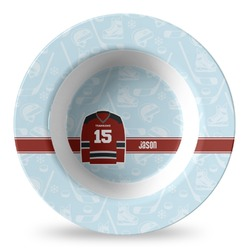 Hockey Plastic Bowl - Microwave Safe - Composite Polymer (Personalized)