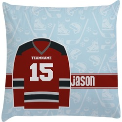 Hockey Decorative Pillow Case (Personalized)