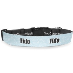 """Hockey Deluxe Dog Collar - Extra Large (16"""" to 27"""") (Personalized)"""