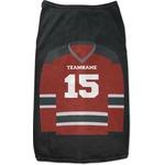 Hockey Black Pet Shirt (Personalized)