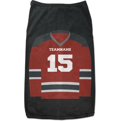 Hockey Black Pet Shirt - 2XL (Personalized)