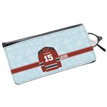 Hockey Genuine Leather Eyeglass Case (Personalized)